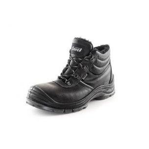 Obuv kotníková SAFETY STEEL NICKEL S3, zimní, černá