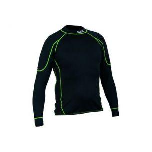 Tričko REWARD, funkční, dlouhý rukáv, dětské, černo-zelené