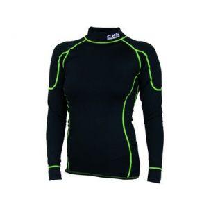Tričko REWARD, funkční, dlouhý rukáv, dámské, černo-zelené