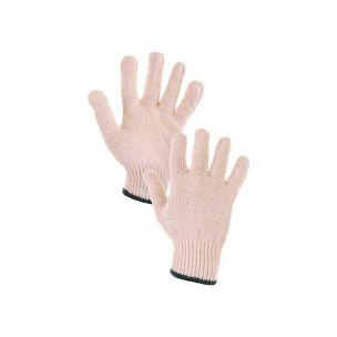 Rukavice FLASH, textilní, bílé