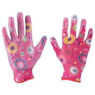 EXTOL LADY  rukavice zahradní nylonové polomáčené v nitrilu, velikost 7 8856669