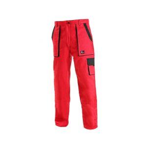 Kalhoty do pasu LUX ELENA, dámské, červeno-černé