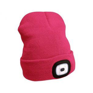 EXTOL LIGHT  čepice s čelovkou 45lm, nabíjecí, USB, růžová, univerzální velikost 43193